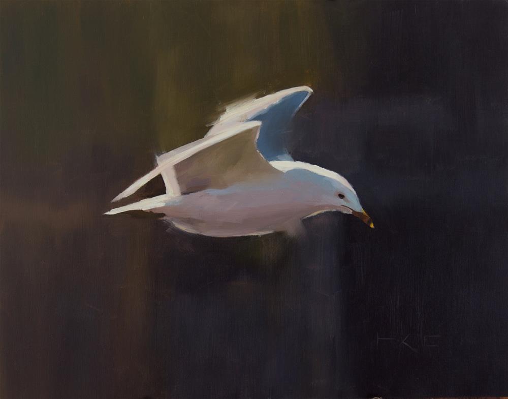 """Seagull"" original fine art by Thorgrimur Andri Einarsson"