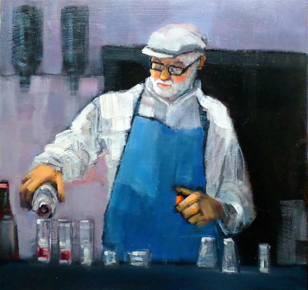 """Barman"" original fine art by salvatore greco"