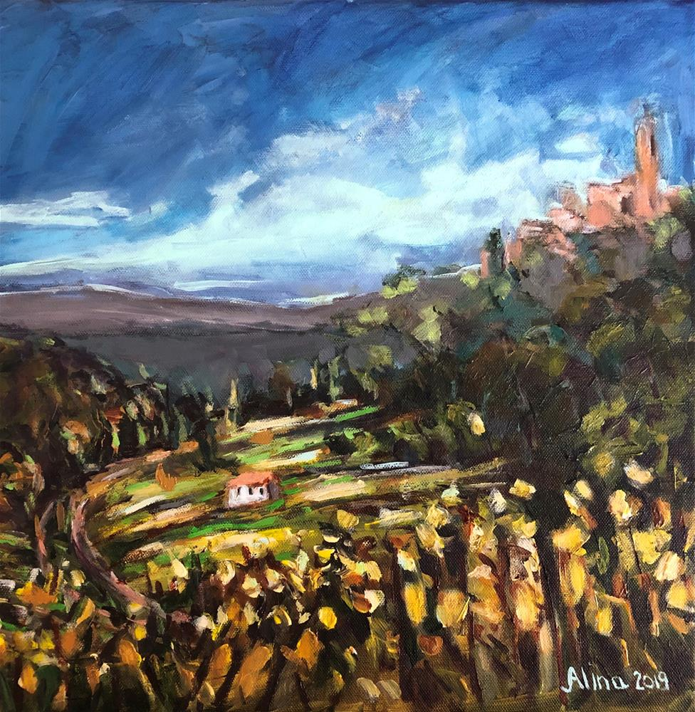"""Vineyards "" original fine art by Alina Vidulescu"