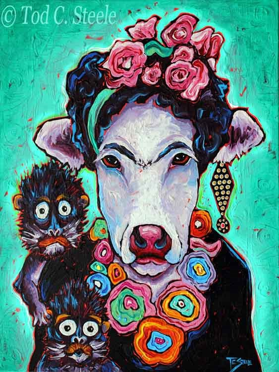 """Frida Cowlo by Tod C. Steele"" original fine art by Tod Steele"