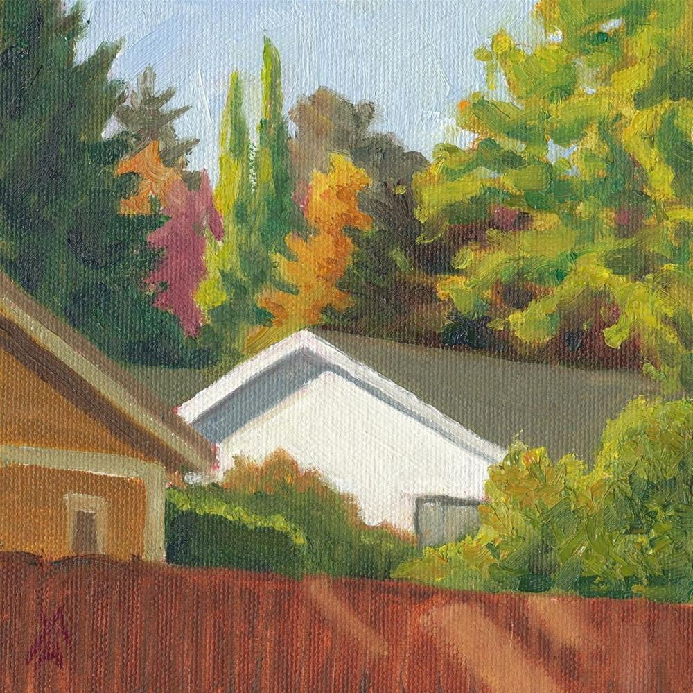 """Fall - Houses"" original fine art by Mark Allison"