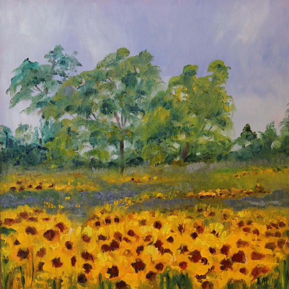 """Sunflowers, Oil Painting by Linda McCoy"" original fine art by Linda McCoy"