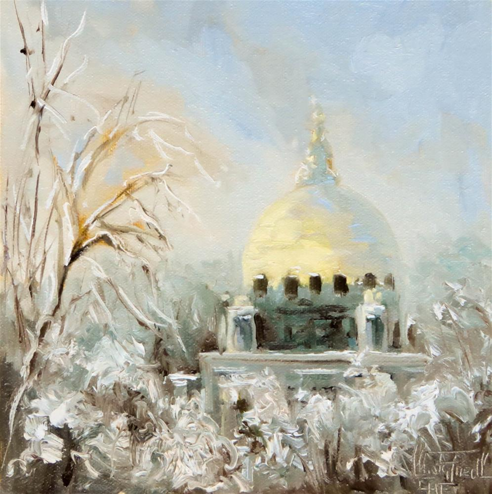 """Golden Dome"" original fine art by Christa Friedl"