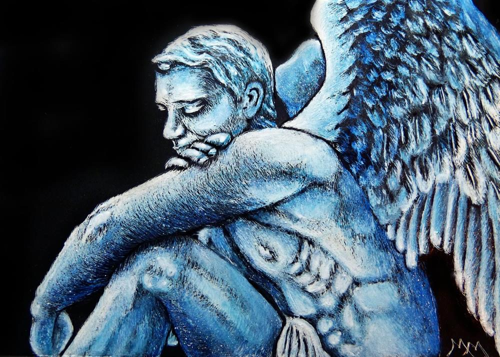 """Male Angel"" original fine art by Monique Morin Matson"