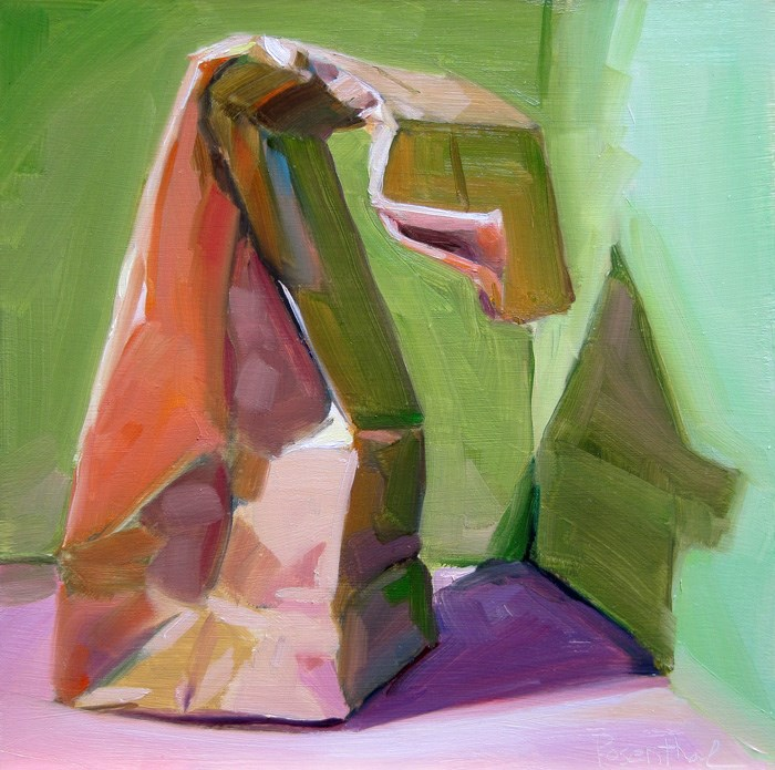 """The Paper Sack Challenge"" original fine art by Robin Rosenthal"