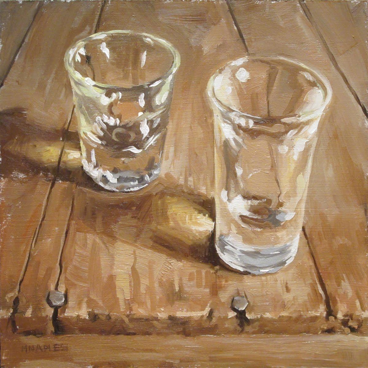 """""""Two Shots"""" original fine art by Michael Naples"""