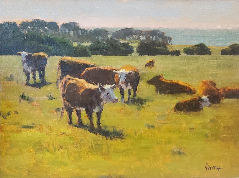 """California Cows"" original fine art by Barbie Smith"