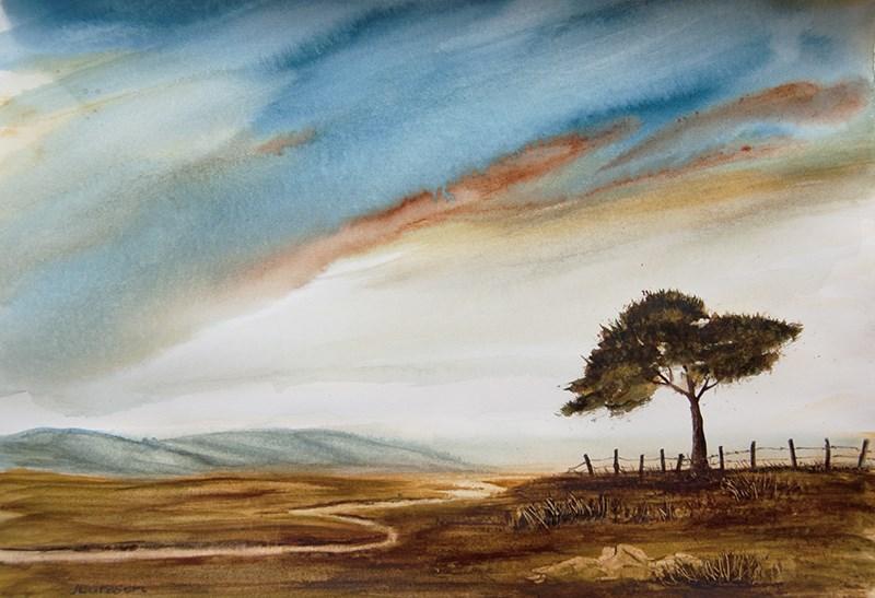 """Solitude II"" original fine art by Jean Lurssen"