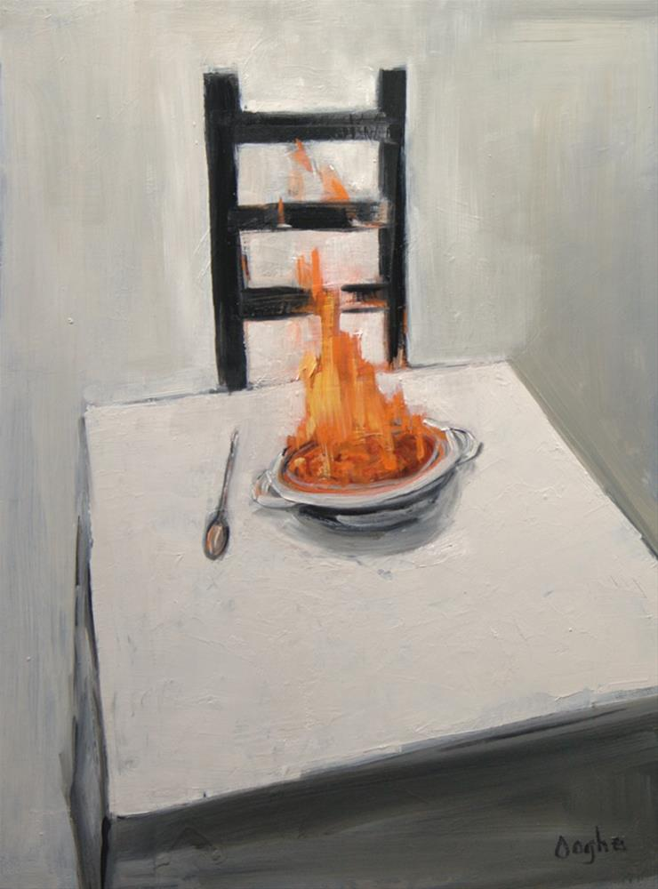 """Flambe"" original fine art by Angela Ooghe"