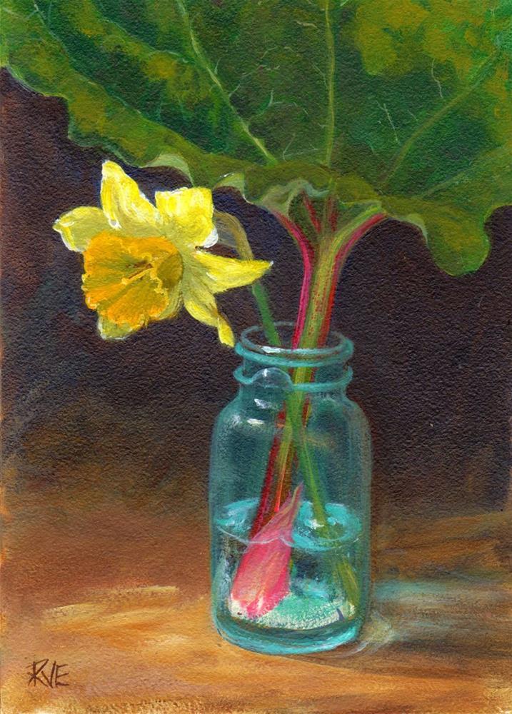 """""""Spring garden bounty"""" original fine art by Ruth Van Egmond"""