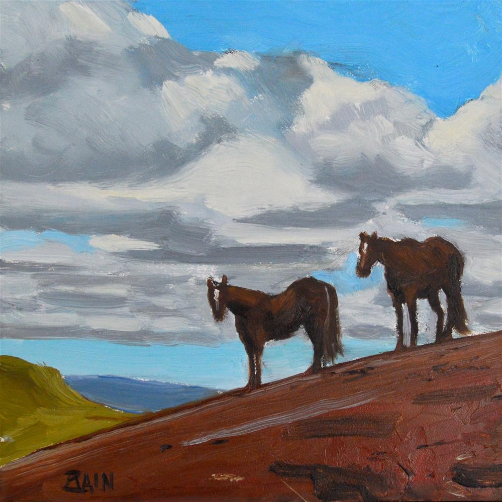 """Carmel Valley Ranch"" original fine art by Peter Bain"