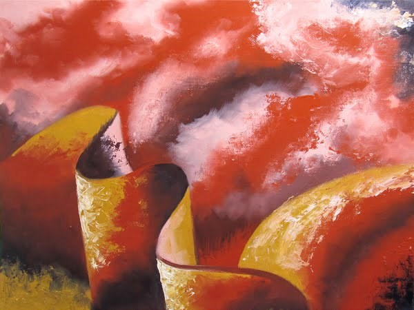 """Mark Webster - Abstraction 19 - Abstract Landscape Oil Painting"" original fine art by Mark Webster"