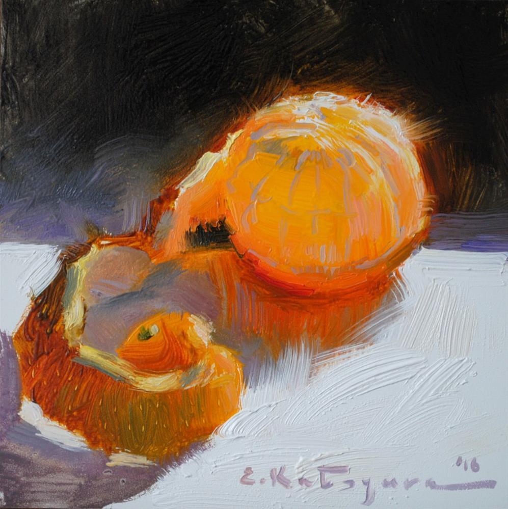 """Peeled Clementine"" original fine art by Elena Katsyura"