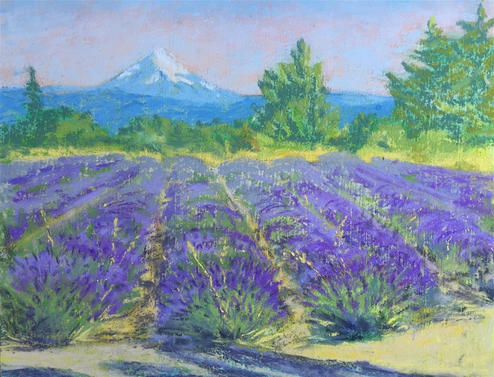 """Mountainside Lavender"" original fine art by Natasha Ramras"