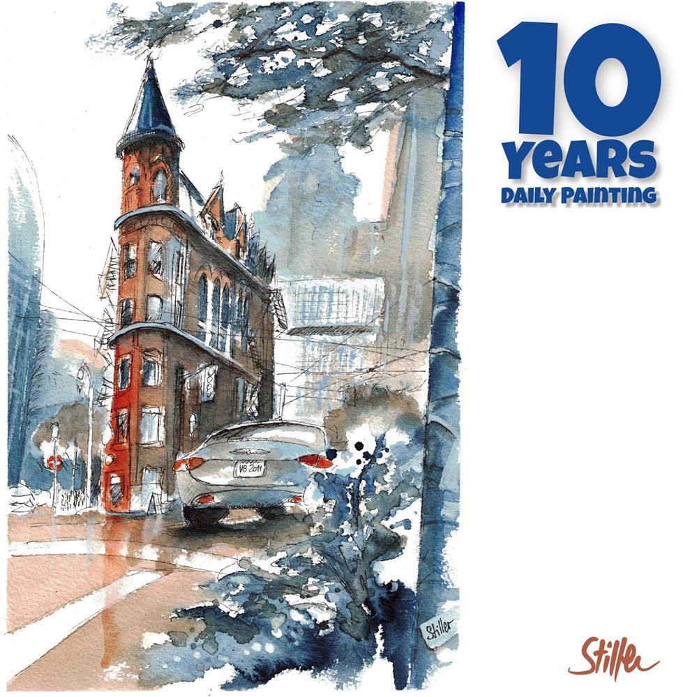 """3654 Ten Years Daily Painting"" original fine art by Dietmar Stiller"