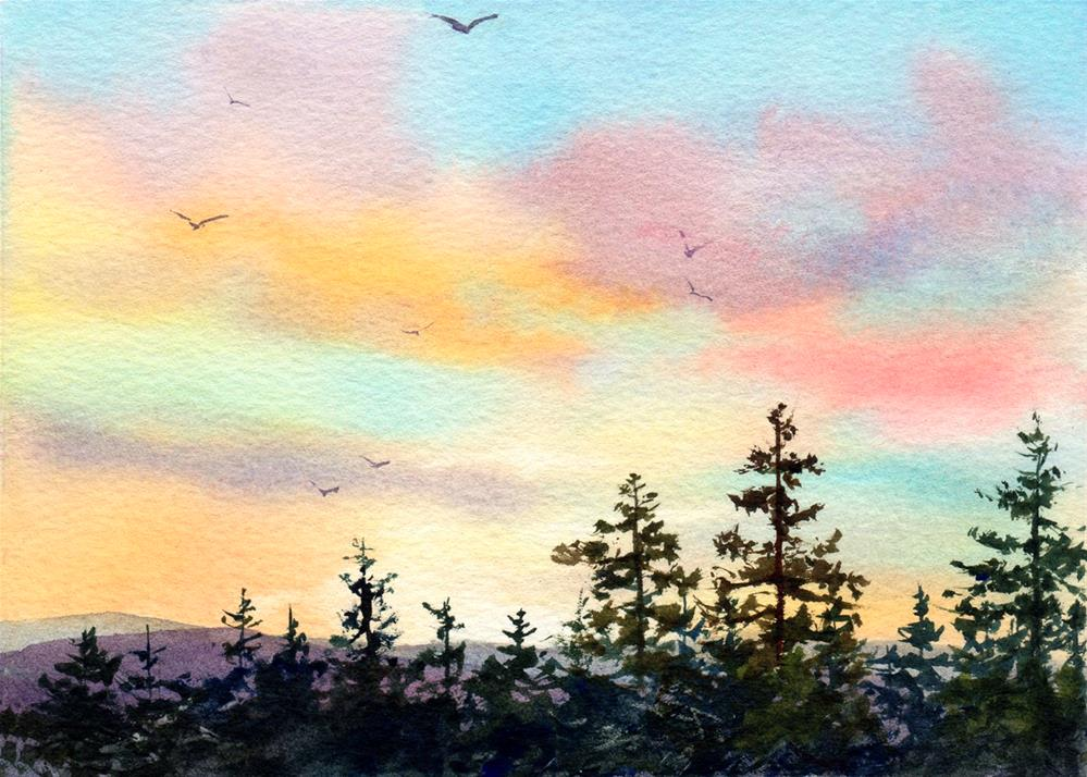 """Appalachian Sunset"" original fine art by Linda Henry"
