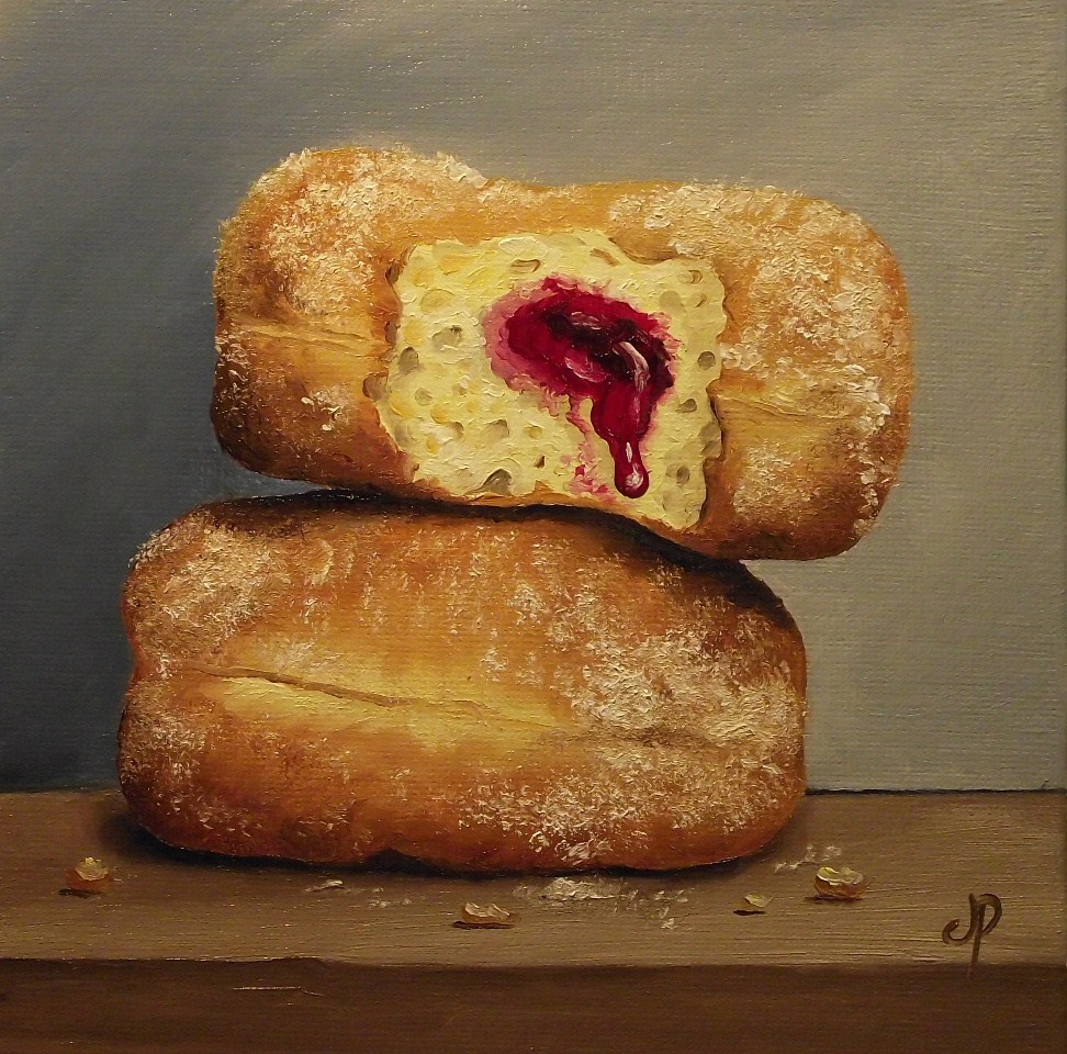 """Jam Doughnuts"" original fine art by Jane Palmer"