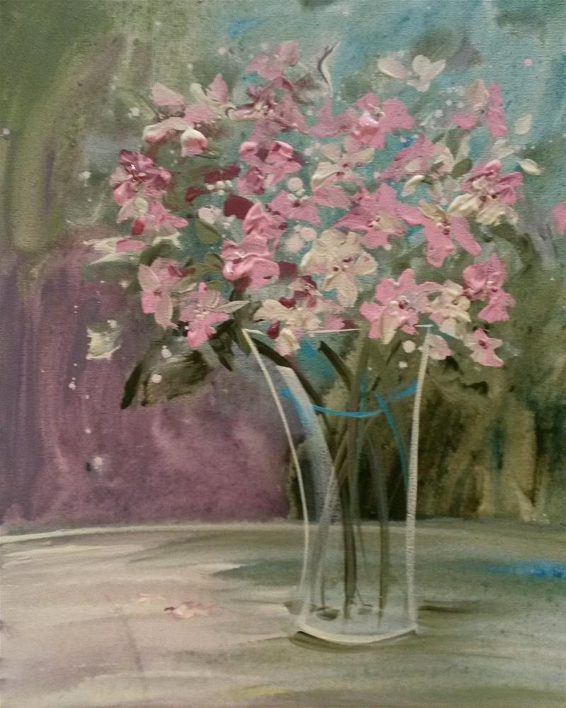 """Pastel Blooms"" original fine art by Terri Einer"