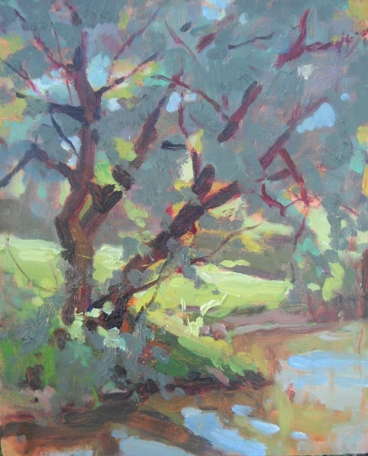 """Siberian Elm Pond"" original fine art by Michael McConnell"