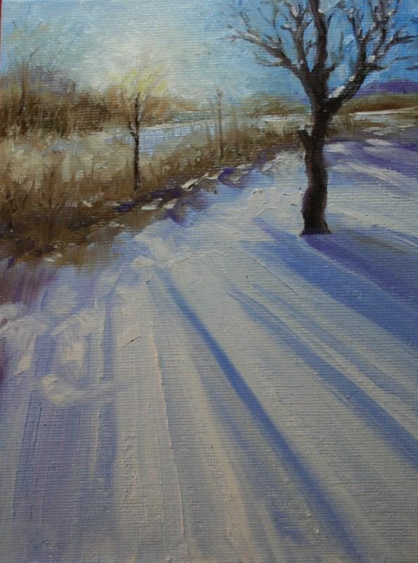 """Long Shadows"" original fine art by Jean Nelson"