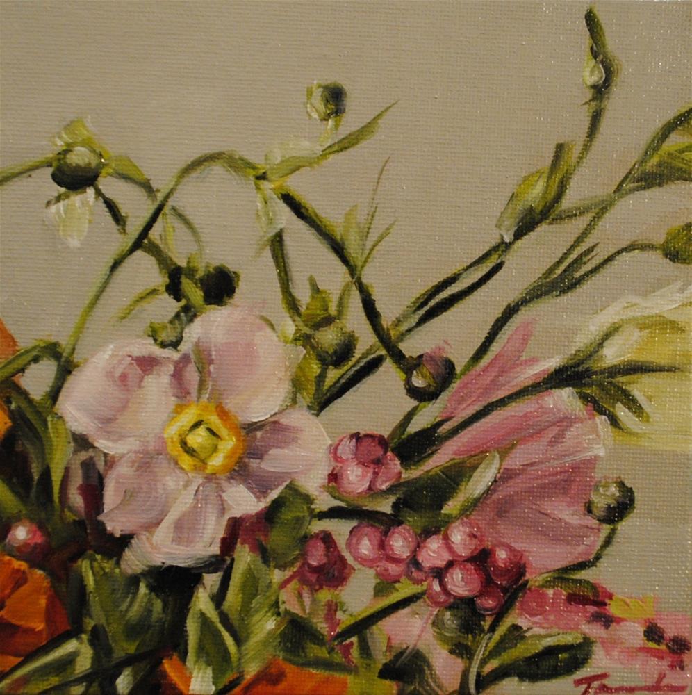 """Floral Mix 012"" original fine art by Tamanda Elia"