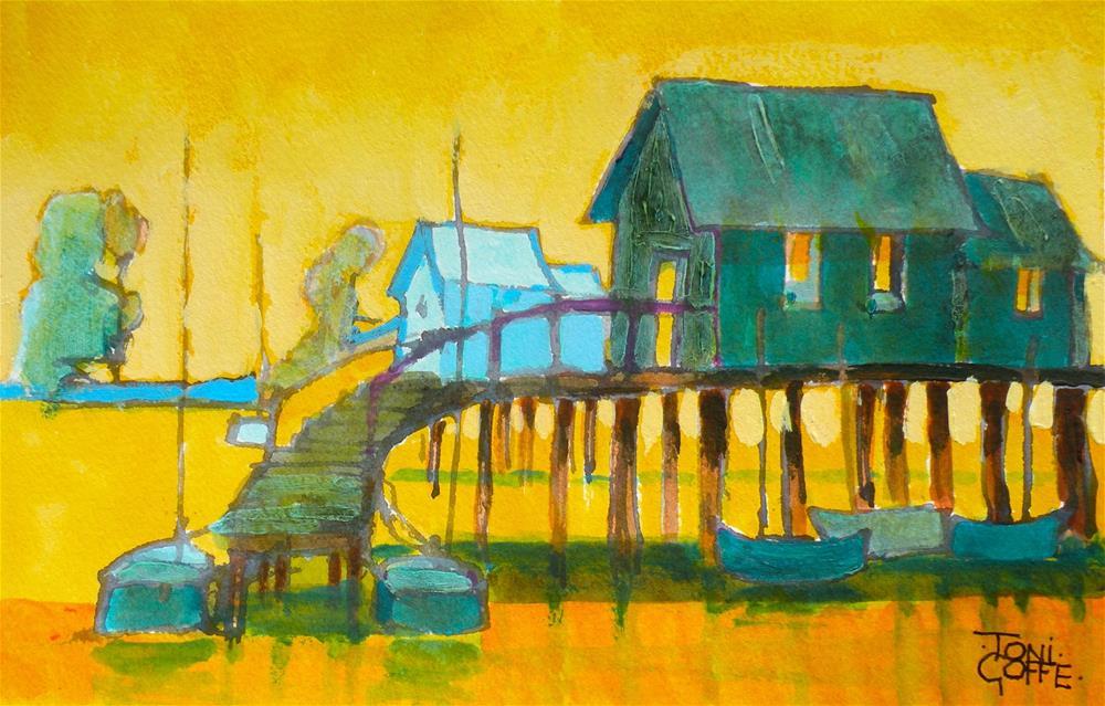 """Sailing Club"" original fine art by Toni Goffe"