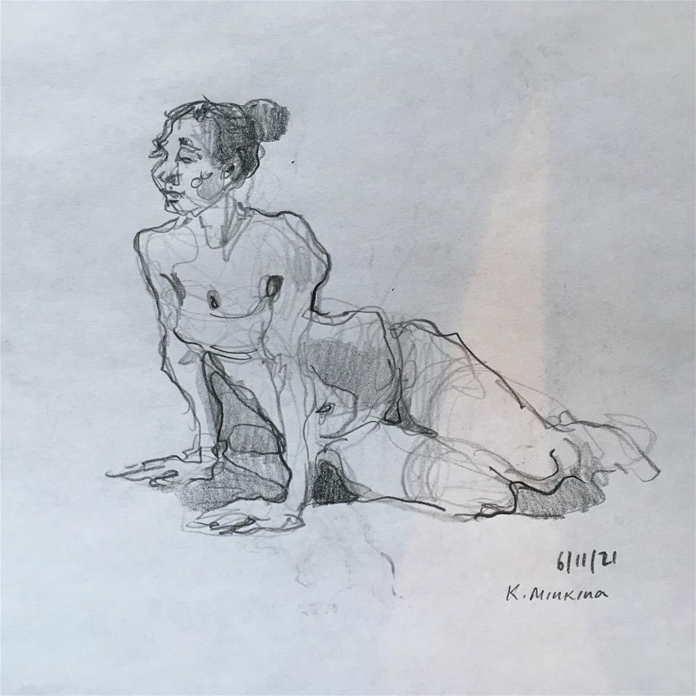 """Figure65"" original fine art by Katya Minkina"
