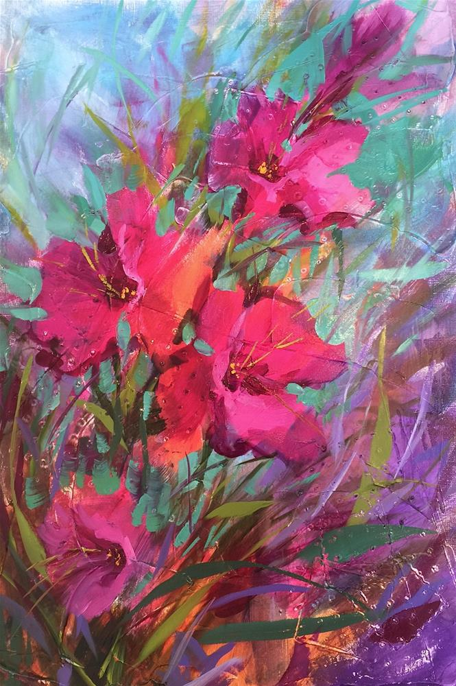 """Glad Rising and Monthly Classes Are Here!"" original fine art by Nancy Medina"