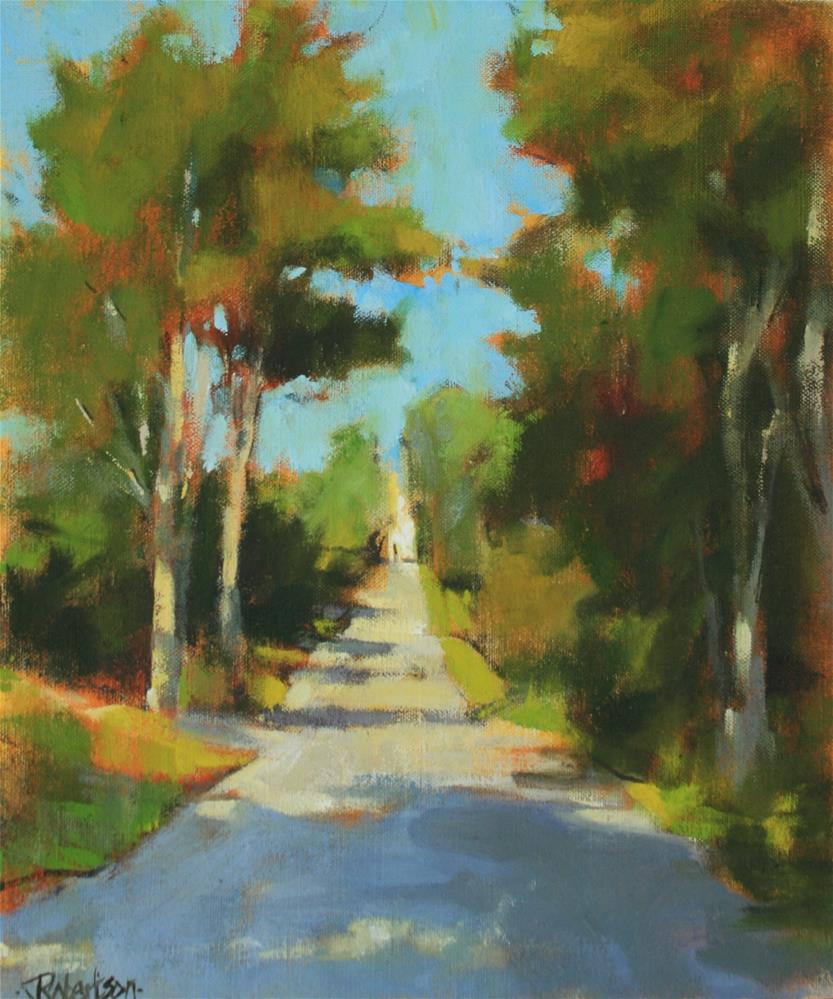 """Just up the Road"" original fine art by Jane Robertson"