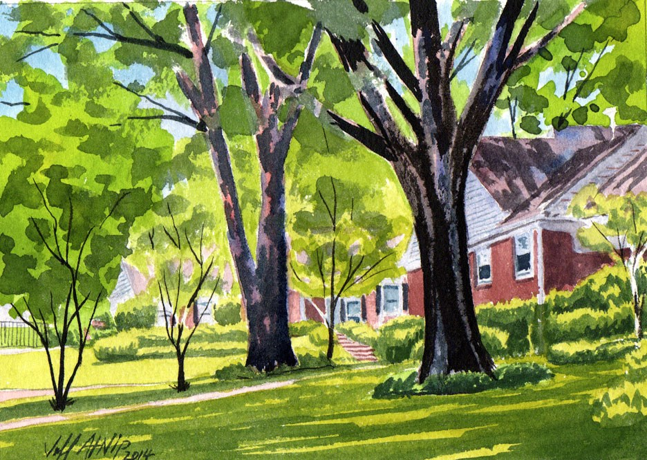"""Down Great Oaks Road #2"" original fine art by Jeff Atnip"