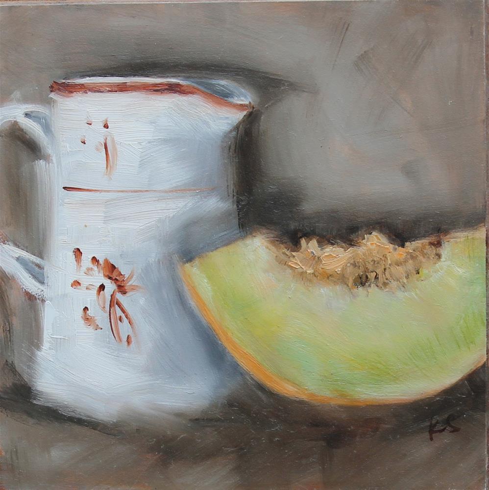 """""""Honeydew"""" original fine art by Karen Solorzano"""