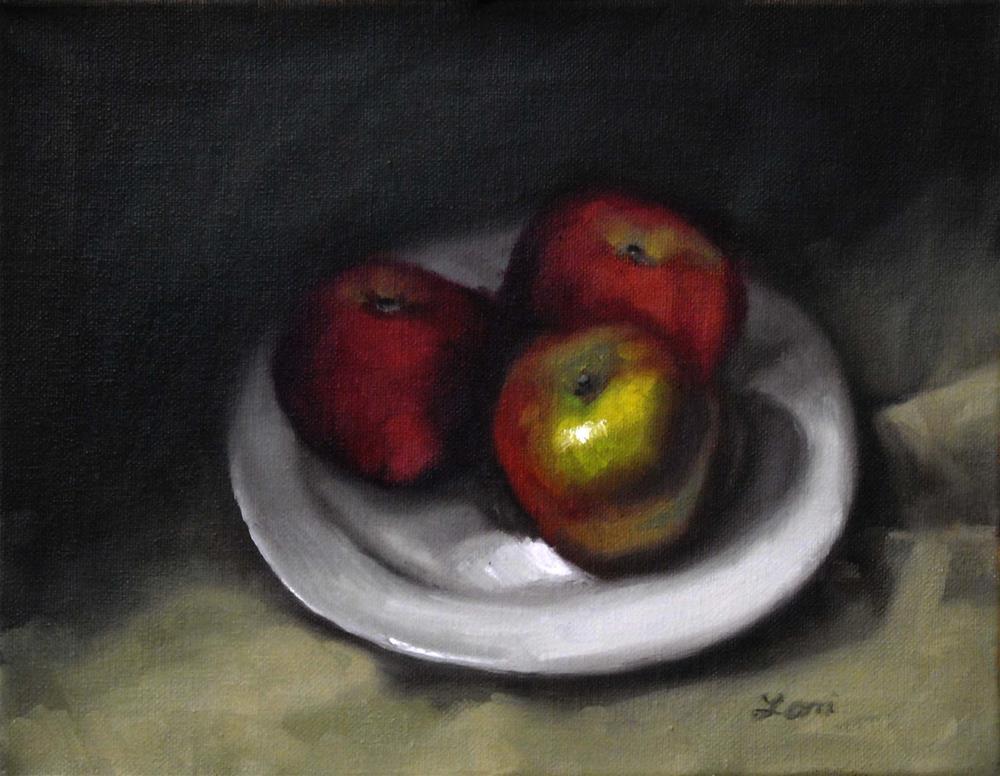 """""""Three Apples"""" original fine art by Lori Jacobs - Farist"""