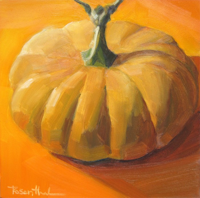 """Cheese Squash"" original fine art by Robin Rosenthal"