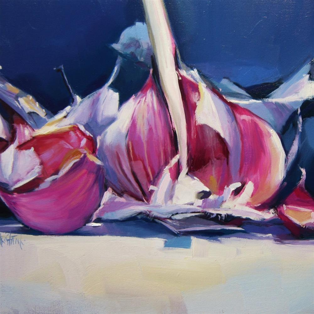 """Head of garlics"" original fine art by Víctor Tristante"