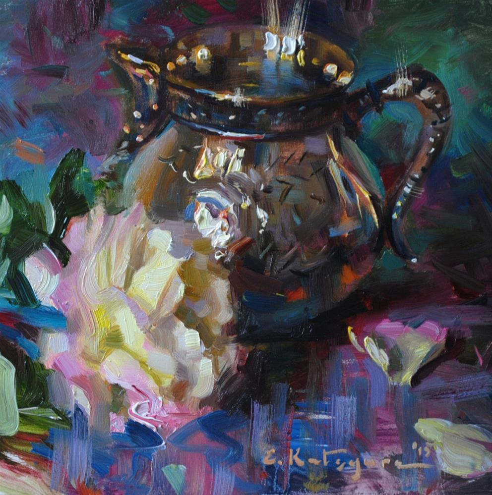 """Silver and Rose"" original fine art by Elena Katsyura"