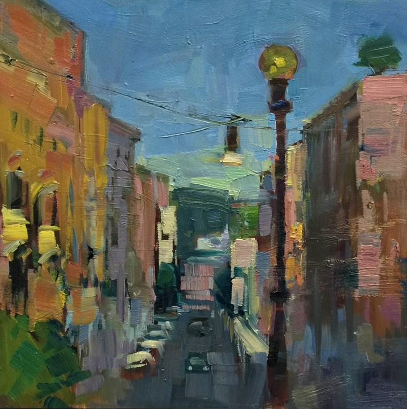 """Via Tunisi Morning"" original fine art by Patti McNutt"