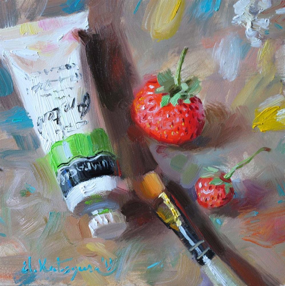 """""""My Palette"""" original fine art by Elena Katsyura"""