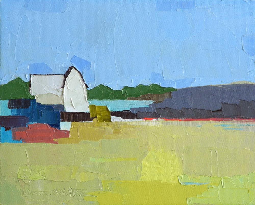 """Lake Side"" original fine art by Donna Walker"