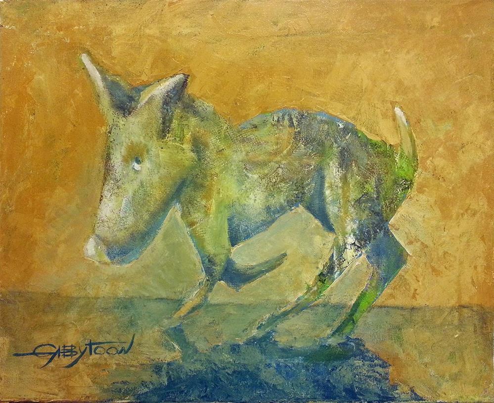 """Devious Dog"" original fine art by Gabriella DeLamater"
