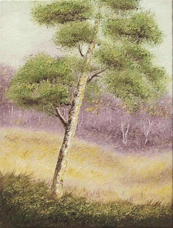 """Landscape Mini28"" original fine art by Mary Sylvia Hines"