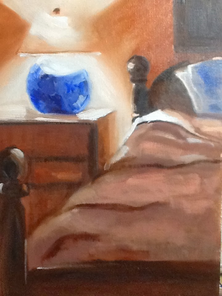 """Paint Your Bed"" original fine art by Peggy Schumm"