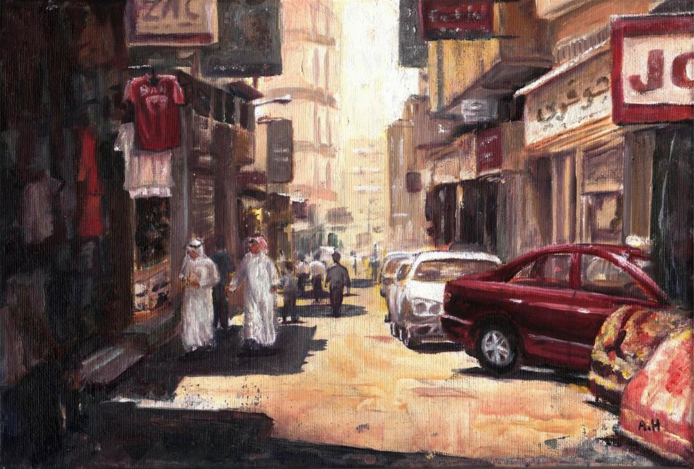 """Manama Souq"" original fine art by Amani Al Hajeri"