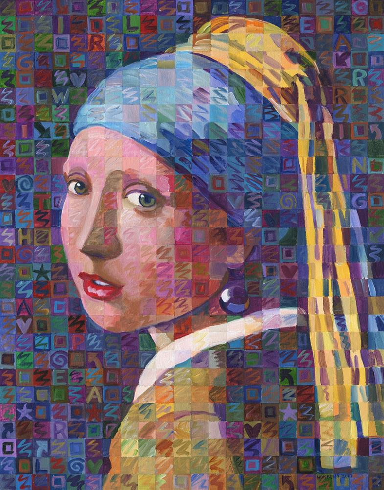 """Girl With A Pearl Earring Variation No. 3"" original fine art by Randal Huiskens"