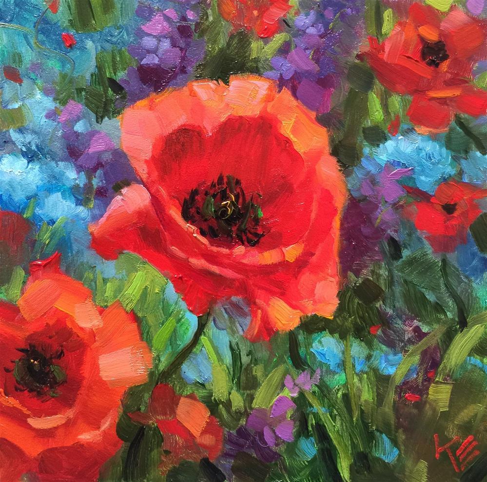 """""""Poppy Field"""" original fine art by Krista Eaton"""