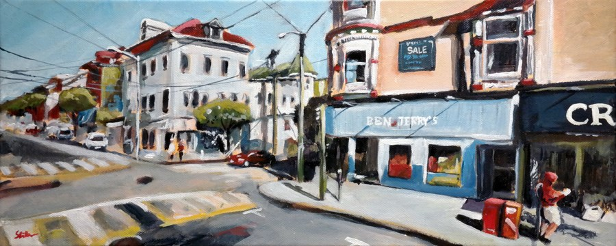"""1327 Ashbury right"" original fine art by Dietmar Stiller"