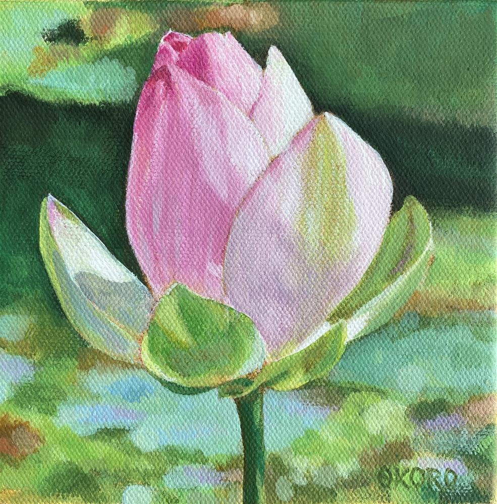 """Ready to Bloom"" original fine art by Cary Okoro"