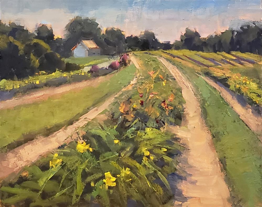 """""""Flower Farm"""" original fine art by Barbie Smith"""