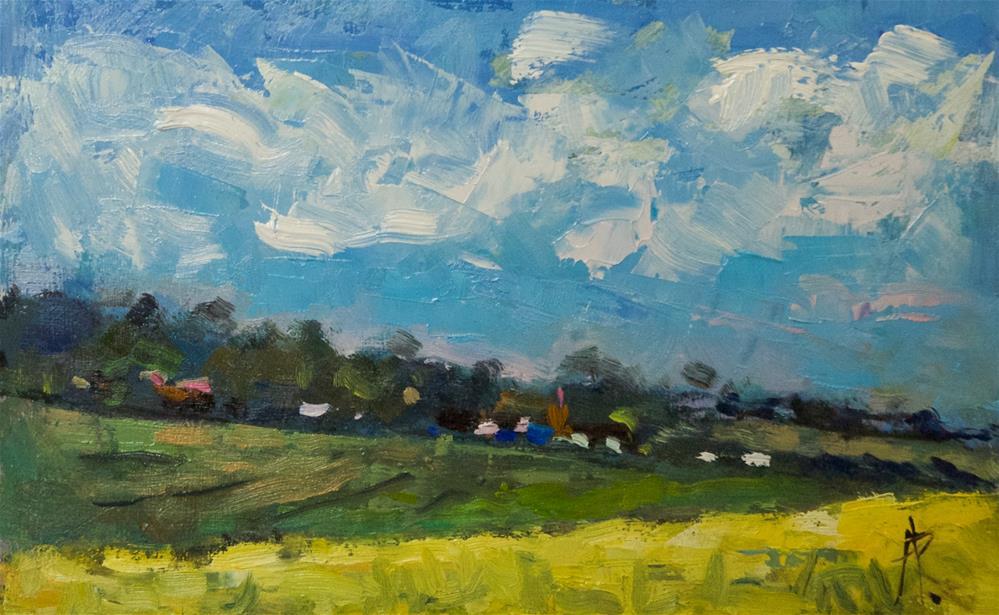"""Yellow Field near Patching"" original fine art by Andre Pallat"