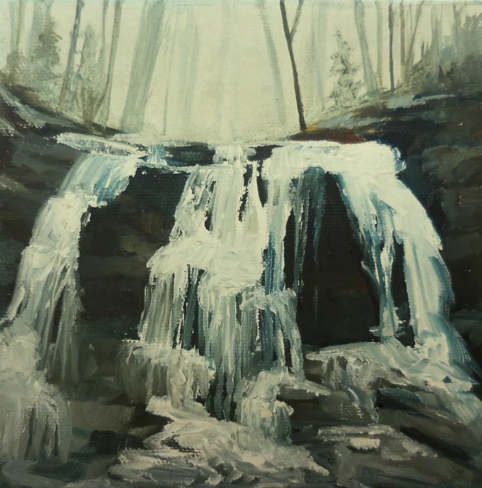 """Lower Falls In Winter"" original fine art by Beth Moreau"