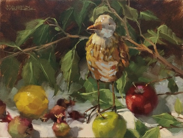 """""""Ceramic Bird & Stuff"""" original fine art by Karen Werner"""